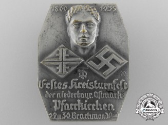 Germany, Third Reich. A Lower Bavaria District Gymnastics Festival Badge, 1935
