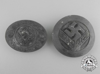Two Second War Reichsarbeitsdienst RAD Badges