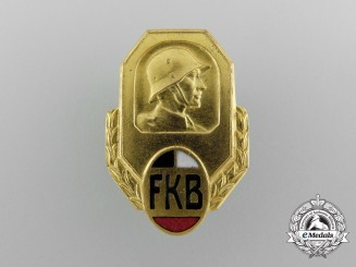 An Imperial German Freikorps Association Badge by Gischler & Sohn