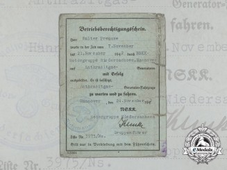 Germany, NSKK. An Anthracite Gas Operation Qualification Certificate