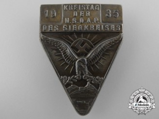 "Germany, NSDAP. A District Day of the NSDAP of ""The Victorious District"" Badge, 1935"