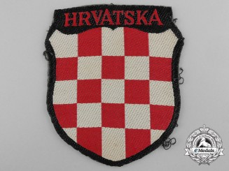 A Uniform Removed Croatian Volunteer Shield; 369.th (Kroat) Regiment