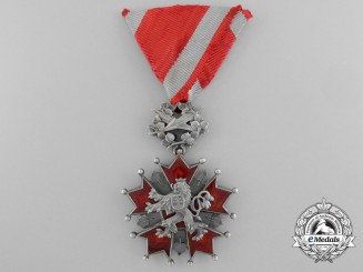 A Czech Order of the White Lion; Knight by Karnet & Kysely, Praha