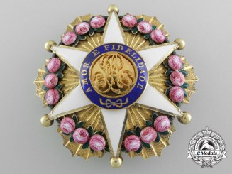 An Exquisite Brazilian Order of the Rose; Dignitary Breast Star