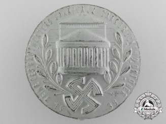 A 1938 Badge for the Inauguration of the Saarpfalz-Saarbrücken District's Theatre