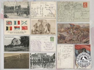 A Set of First War Serbian Military & Patriotic Postcards