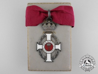 A Royal Greek Order of George I; 3rd Class with Case by Rudolf Souval