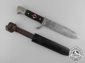 An Early HJ Knife with Motto by Tiger