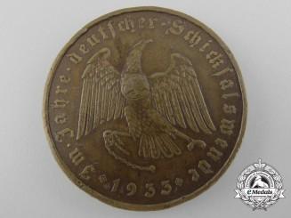 A 1933 Bronze A.H. Schicksalwende Medal
