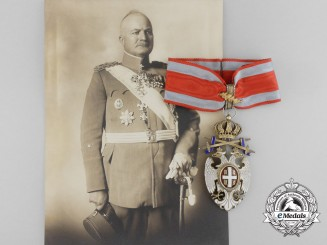 An Order of the White Eagle (& 2nd Award) to General Pantelija Jurišić