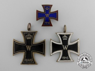 Germany, Imperial. Three Iron Cross Badges 1914-15-16