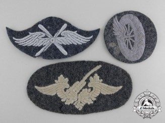 Three Cloth Luftwaffe Insignia