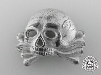 An SS Skull First Model for Visor Cap