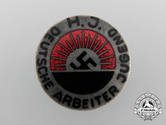 A HJ National Socialist Worker's Youth Organization Membership Badge