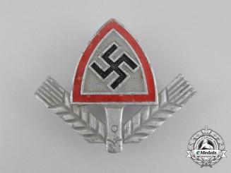 A Third Reich Period RAD Cap Badge; Marked