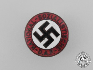 A NSDAP Party Member's Lapel Badge by Paulmann & Crone of Lüdenscheid
