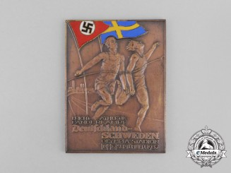 A 1937 Germany vs. Sweden Athletics Competition in the Olympia Stadium Medal