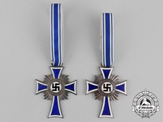 A Bronze and Silver Grade Cross of Honour of the German Mother