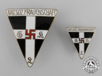 Two National Socialist Women's League Membership Badges