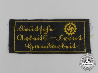 "A Third Reich Period DAF (German Labour Front) ""Handcrafted"" Factory Tag"