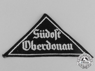 "A Mint and Unissued HJ ""Südost Oberdonau"" District Sleeve Insignia"