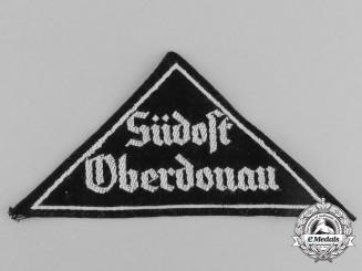 "A Mint and Unissued HJ ""Südost Oberdonau"" District Sleeve Insignia"