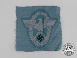 A Third Reich Period Police Officer's Sleeve Eagle