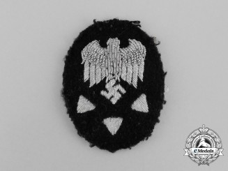 A Kriegsmarine Civilian Technical Official Advanced Specialist Trade Patch