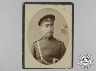Russia, Imperial. A Studio Photo of an Imperial Soldier