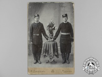 Russia, Imperial. A Studio Photo of two Imperial Soldiers