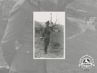 A Wartime Period Photo of a DKG Recipient in the Field