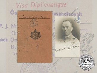 The Diplomatic Passport of  Ion Antonescu; Soldier, Dictator, & Marshal of Romania