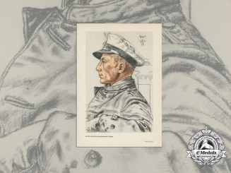 A Published Sketch of U-Boat Commander and KC Recipient Otto Schuhart