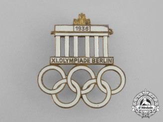 A 1936 Berlin Olympic Games Event Badge by Werner Redo