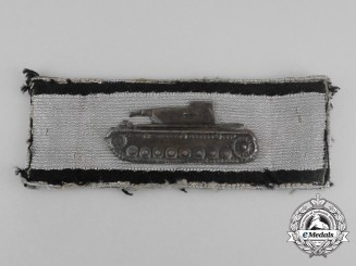 A Silver Grade Badge for Single-Handed Tank Destruction; Uniform Removed