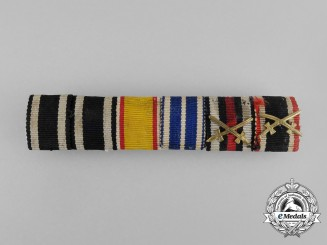A First and Second War German Order of Hohenzollern Medal Ribbon Bar