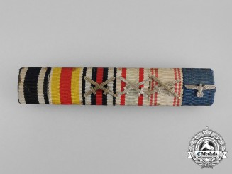 A First and Second War German/Austrian Red Cross Medal Ribbon Bar