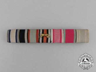 A First War German Bavarian Medal Ribbon Bar