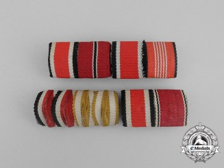 Four Iron Cross 1939 Second Class Medal Ribbon Bars
