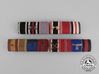 Four Second War German Medal Ribbon Bars