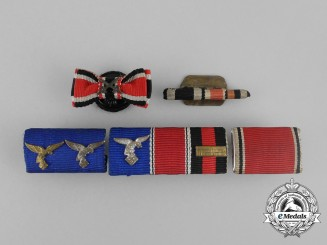 Five Second War German Medal Ribbon Bars and Boutonnieres