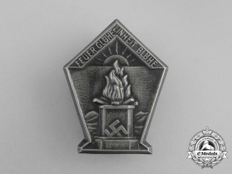 """A Third Reich Period """"Fire Glow, Unity Bloom"""" Badge"""