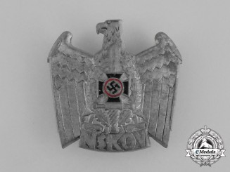 A NSKOV (National Socialist War Victim's Care) Cap Badge by Deschler & Sohn