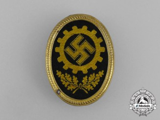 A Third Reich Period DAF (German Labour Front) Cap Badge