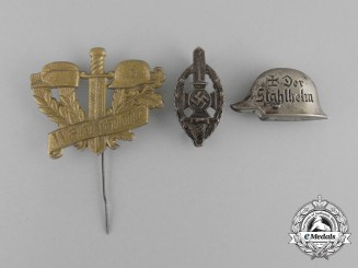 Three Third Reich Period Badges and Pins