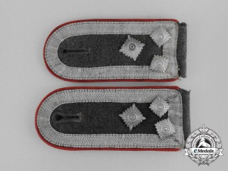 A Set of Luftwaffe Flak Stabsfeldwebel Rank Shoulder Boards