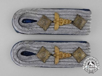 A Set of Wehrmacht Heer (Army) Stabsarzt Shoulder Boards