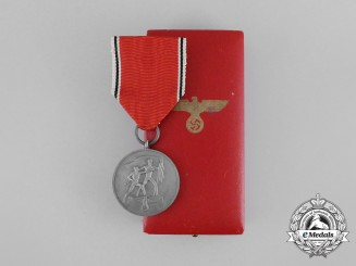 A Mint Commemorative Anschluss of Austria Medal in its Original Case of Issue