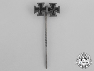 An Iron Cross 1939 First and Second Class Miniature Stick Pin