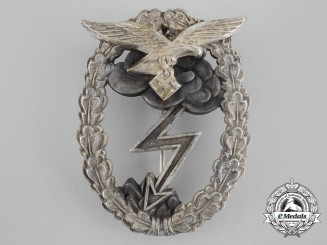 A Luftwaffe Ground Assault Badge by Gustav Hermann Osang of Dresden